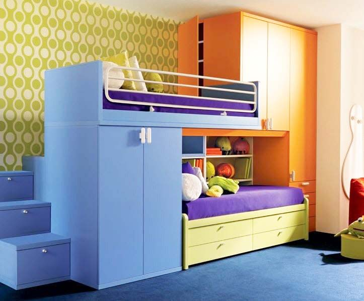 Save Space In Your Kids Rooms-Bunk Beds With Storage