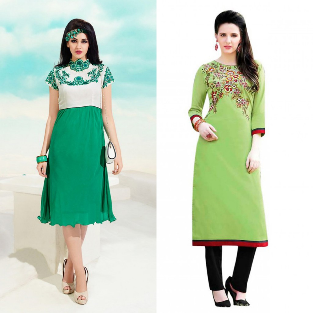 Trendy with Designer Ethnic Kurti-
